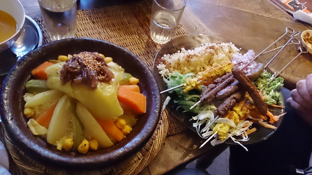 couscous og shish kebab