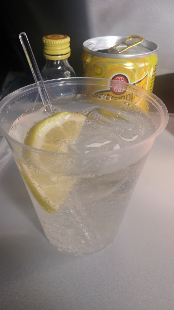 gin og tonic på british airways