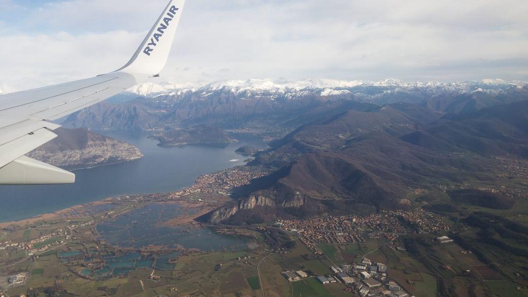 smuk udsigt fra ryanair fly