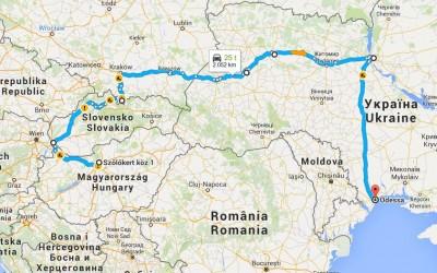Rejse i april: Fra Budapest til Odessa