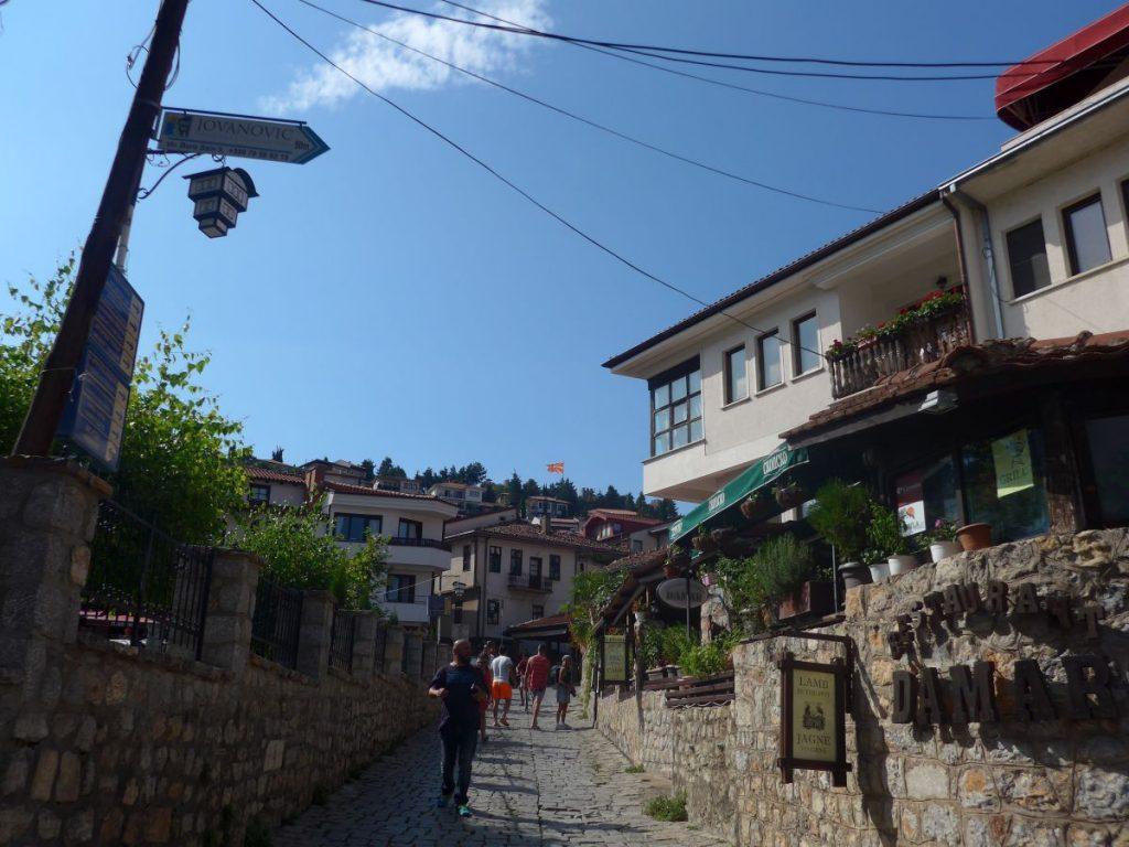 gadebilledet i det sydlige makedonien